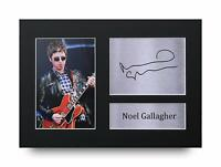 Noel Gallagher Signed Pre Printed Autograph Photo Gift For an Oasis Fan