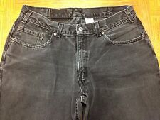 MENS LEVIS 550 RELAXED FIT VINTAGE USA BLACK JEANS SIZE 33 x 29 Tag 36 x 29 W32u