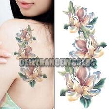 FLOWER ARM LEG TATTOO TEMPORARY WATERPROOF WOMAN BRIDAL BODY STICKER SCAR COVER