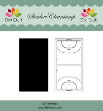 Dixi Crafts Clearstamp Stamp HANDBALL (Pitch) 2pc DCSTAMP0082