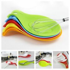 Heat Resistant Non-stick Silicone Spoon Spatula Cooking Kitchen Placement Gadget