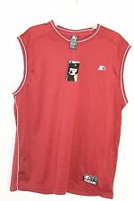 New Starter Mens Athletic Basketball Football Jersey T Shirt Top Maroon L 42 44