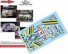 DECALS 1/18 REF 825 RENAULT 5 GT TURBO OREILLE RALLYE TOUR DE CORSE 1988 RALLY