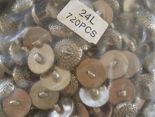 """5 gross bulk Lion buttons 720p 16MM 24L silver color 5/8"""" Versace type Greek Key"""