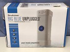 Brookstone Big Blue Unplugged Wireless Indoor/Outdoor Speaker Portable White