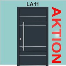 Haustür anthrazit WH 75 Aluminium mit Kunststoff Haustür LA11+Edelstahl Griffe