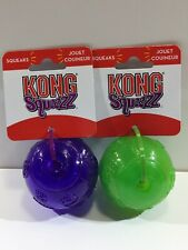 New Kong Squeezz Balls Lot Of 2 Size Medium Purple And Green