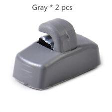 Qty2 Gray Sun Visor Hook Clip Holder 3B0857561B for VW Jetta Golf Passat Beetle