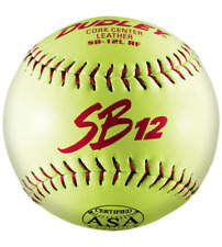 "Dudley 12"" SB 12l ASA Leather Slowpitch Softball (dozen)"