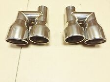 Exhaust Tail pipes duplex 4 Tube For Audi A4 A5 A6 A7 S4 S6 Stainless steel
