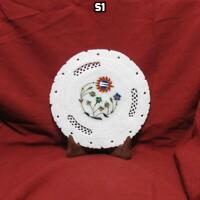 Decorative plate,semi precious stone inlay,pietra dura.7 inch plate
