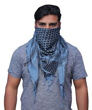 Shemagh Military Army Tactical Grey And Black Arab Desert Scarf Heavyweight