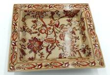 Aschenbecher Keramik Dekoration Blumen Elegant Hogar