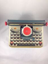 Vintage Tin Typewriter Toy Unique Dependable Uneek Artie Mechanical Made in USA