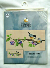 """Heritage Stitchcraft / Valerie Pfeiffer """"Berry Time"""" Counted Cross Stitch Kit"""