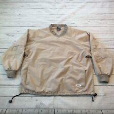Oakley SoftWare Golf Wind Rain Jacket Pullover Windbreaker Mens Large Tan #H