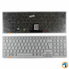 NEW PCG-71312M SONY VAIO REPLACEMENT LAPTOP KEYBOARD WHITE WITH FRAME UK