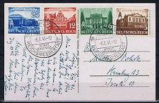 Dt. Reich Nr. 764 - 767 auf Postkarte mit anlassbezogenem SST kein FDC  !!!!~⓰