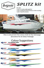 "Quintrex Freedom Boat Decals and Graphics ""SPLITZ Kit"" 2200mm  long"