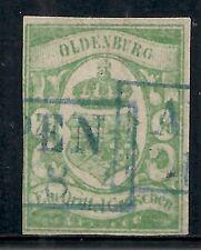 Oldenburg stamps 1861 MI 10 signed  CANC  VF