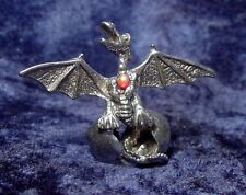 Pewter Dragon in Egg with Colorful Crystal Accent