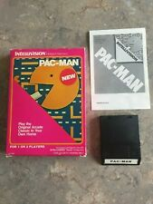 Pac-Man Intellivision Cartridge Game INTV White Label With Box 3A
