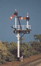 HO / GALGA DE OO GWR Redondo POST (1 Juego Soporte / jcn. INSIGNIAS) - Ratio 468
