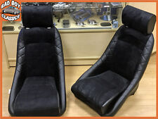 Pair BB1 GT Classic Sports Bucket Seats Black / Alcantara Ideal CLASSIC FORD