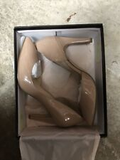 EUC BCBGeneration Haleigh-X High Heels Pumps Wedding Shoes Size 8 beige tan nude