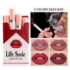 4 Colors Creative Cigarette Lipstick Set Matte Long Lasting Waterproof Lip Stick