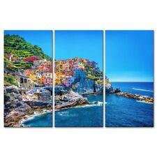 The Picture For Home Decoration Port  Mediterranean Sea Cinque Terre   3 Pieces