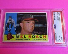 1960 Topps Mel Roach Braves Card #491  PSA 6 ExMt