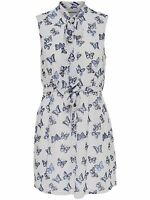 8/6 NEU ONLY Damen kurzes Spitzen Kleid onlJANE BUTTERFLY S/L BOW DRESS Gr. 38