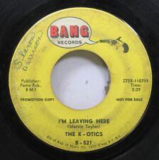 Hear! Garage Promo 45 The K-Otics - I'M Leaving Here / Double Shot On Bang (Prom