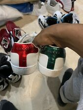 2acf288ef5b GUCCI Ace Unisex Sneakers Signature Red and Green US Size 9 Men Gucci Size 8