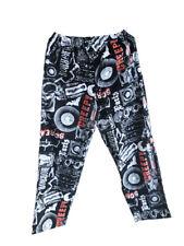 Mens Halloween Punk Rock Elastic Waist Pajama Sleep Lounge Pant Horror Scream L