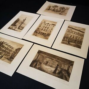 Six Original ETCHINGS By SAMUEL LOXTON *Signed by Artist* SCARCE Art RARE