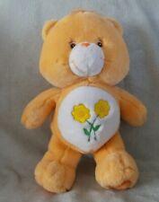 "Official Care Bears 12"" Orange Sunflowers Friend Bear Soft Plush Toy Teddy 2002"