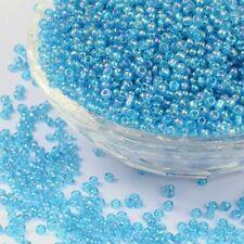 lote de 30g cuentas rocalla vidrio TURQUESA 2mm 12/0 fabricación joyería