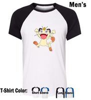 Cartoon Pokemon Meowth Graphic Tee Boy's Men's T-Shirt Tops