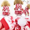 Pet Dog Cat Christmas Warm Clothes Costume Puppy Four-Legged Velvet Coat Apparel