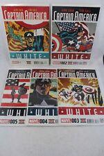 Marvel Comics CAPTAIN AMERICA: White  Regular Cover #1-5 Comic Books