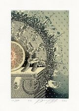Mystic, Medical, Limited Edition, Surrealistic Ex libris Etching by J. Jakovenko