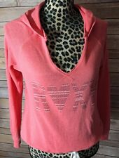 ROXY Women's Coralish Pullover V Neck Cinch Tie Waist Sz X SMALL
