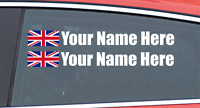Race Car Drivers Personalized Name Sticker Rally Car Racing Car Stickers WHITE