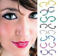 Wholesale 5-40x Sexy Stainless Steel Nose Studs Ring Hoop Body Piercing Jewelry