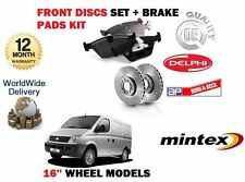 LDV MAXUS 2.5 DIESEL 2005-2009 NEW FRONT BRAKE 16'' DISCS SET AND DISC PADS KIT