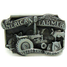 Vintage American Farmer Belt Buckle Western Cowboy Native American (FMR-01)