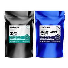 TESTOROID 320 testosterone booster-estrogeni Blocker & TESTOROID pura aminoacidi