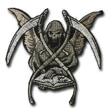 Grim Reaper Skull Devil Patch Iron on Embroidered Chopper Harley Rider Biker MC